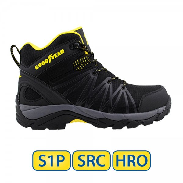 Metal free Goodyear S1P SRC HRO Safety Boots
