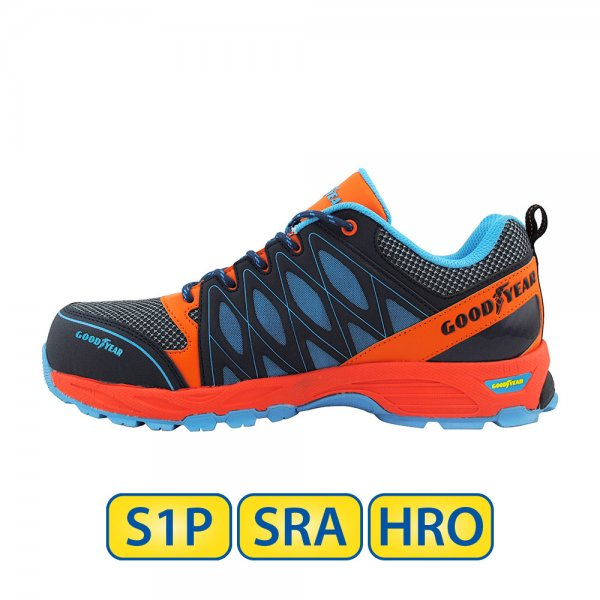 Metal free Goodyear S1P SRA HRO Safety Shoes