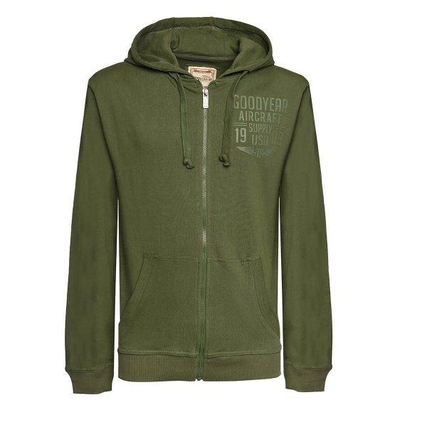 "Goodyear Men's Hooded Sweater Jacket ""Aircraft"""