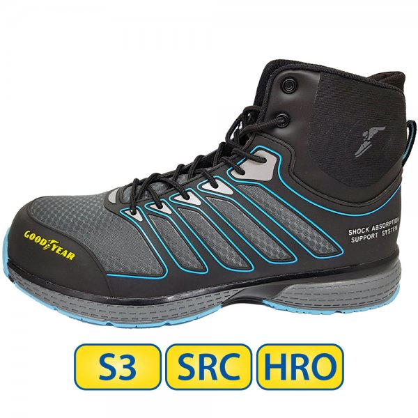 Metal free Goodyear S3 SRC HRO Safety Boots