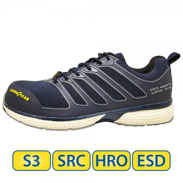 Metal free Goodyear S3 SRC HRO ESD Safety Shoes