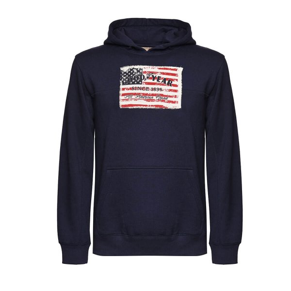 "Goodyear Men's Fleece Hoody ""Flag"""
