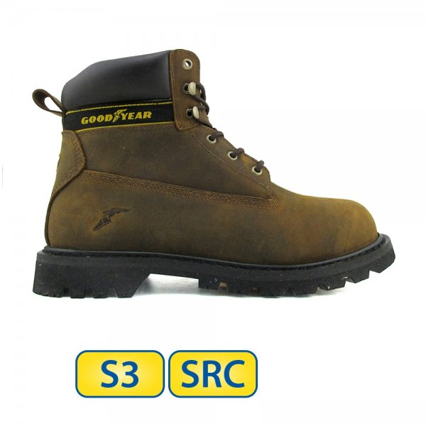 Goodyear S3 SRC Welted Leather Safety Boots