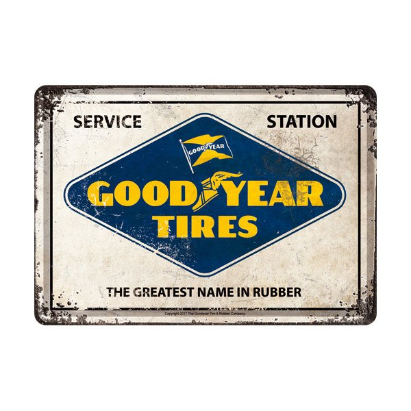 Goodyear Metal Postcard