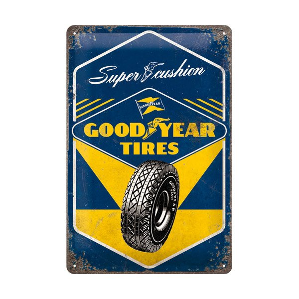"Goodyear Tin Sign (20 x 30 cm) ""Super Cushion"""