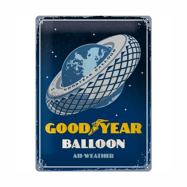 "Goodyear Tin Sign (30 x 40 cm) ""Balloon"""
