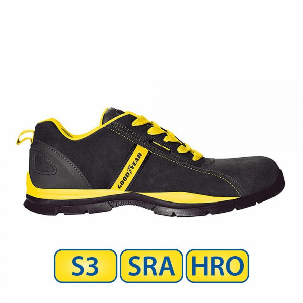 Metal free Goodyear S3 SRA HRO Safety Shoes