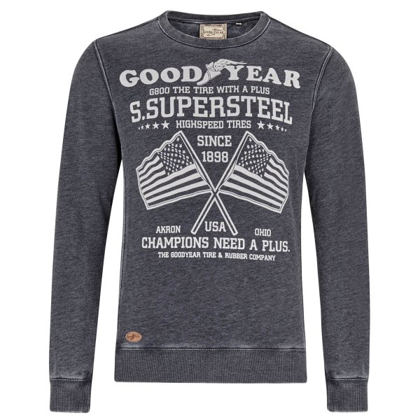"Goodyear Men's Crewneck Sweatshirt ""Ceylon"""