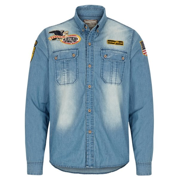 Spijkerstof Overhemd.Goodyear Men S Denim Shirt Melvin Shirts Men Apparel