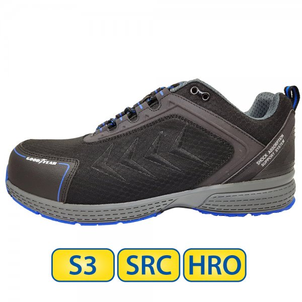 Metal free Goodyear S3 SRC HRO Safety Shoes