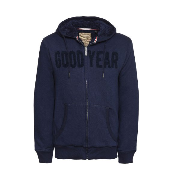 "Goodyear Men's Hooded Zip Sweater ""Logo"""