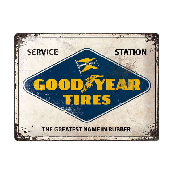 "Goodyear Metal Sign ""Service Station"""